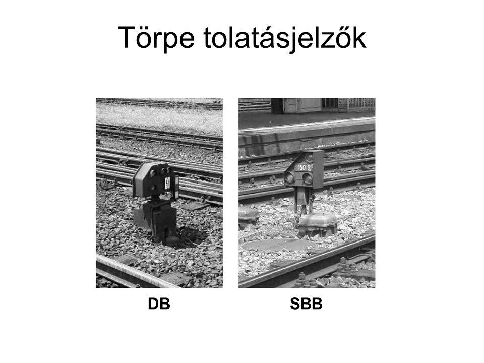 Törpe tolatásjelzők DB SBB