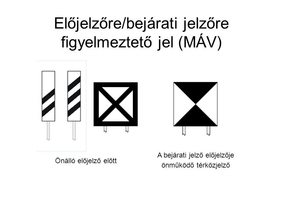 Előjelzőre/bejárati jelzőre figyelmeztető jel (MÁV)