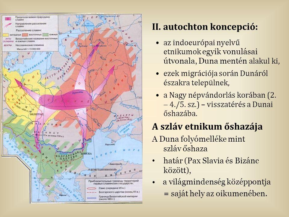 II. autochton koncepció: