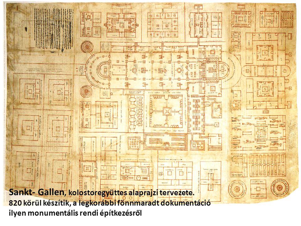 Sankt- Gallen, kolostoregyüttes alaprajzi tervezete.