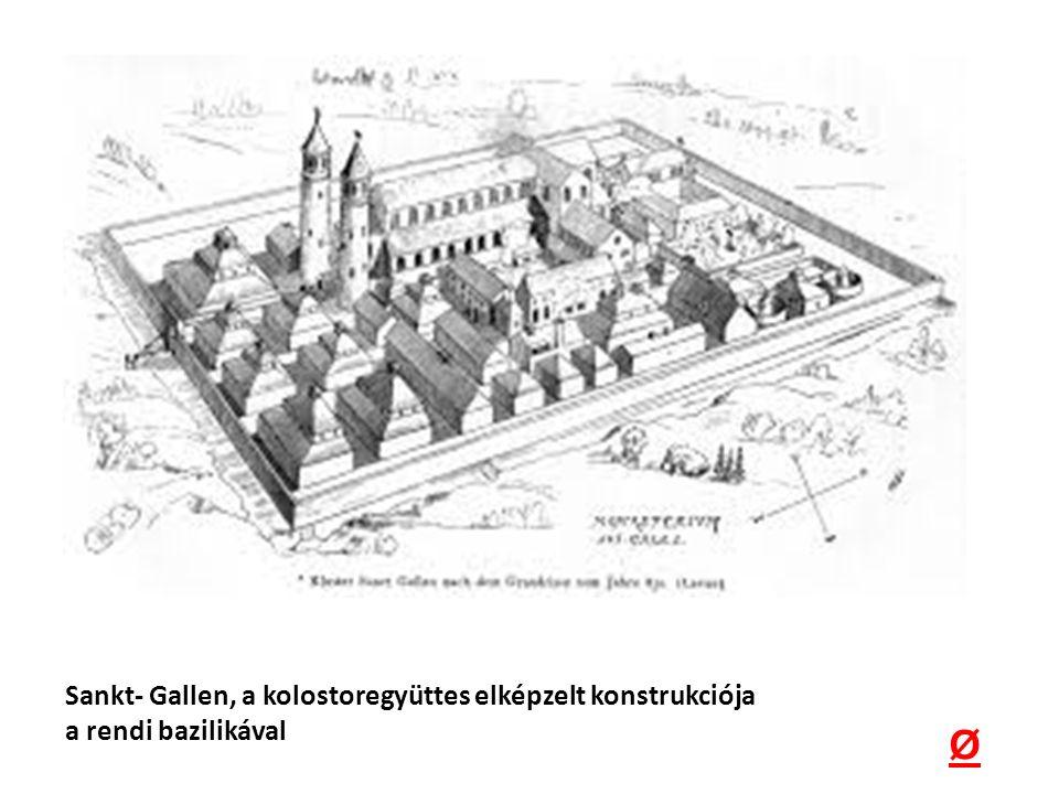 Ø Sankt- Gallen, a kolostoregyüttes elképzelt konstrukciója