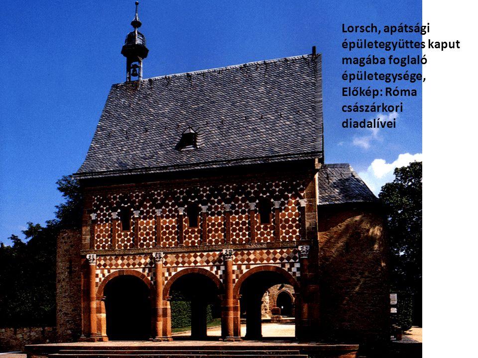Lorsch, apátsági épületegyüttes kaput magába foglaló épületegysége, Előkép: Róma császárkori.
