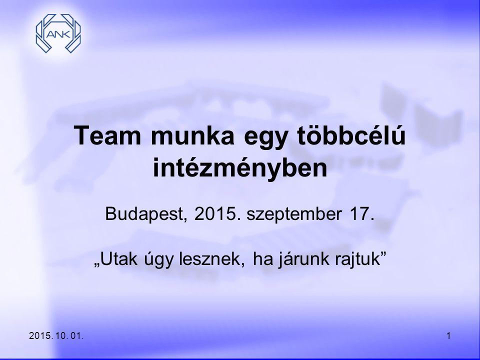 Team munka egy többcélú intézményben
