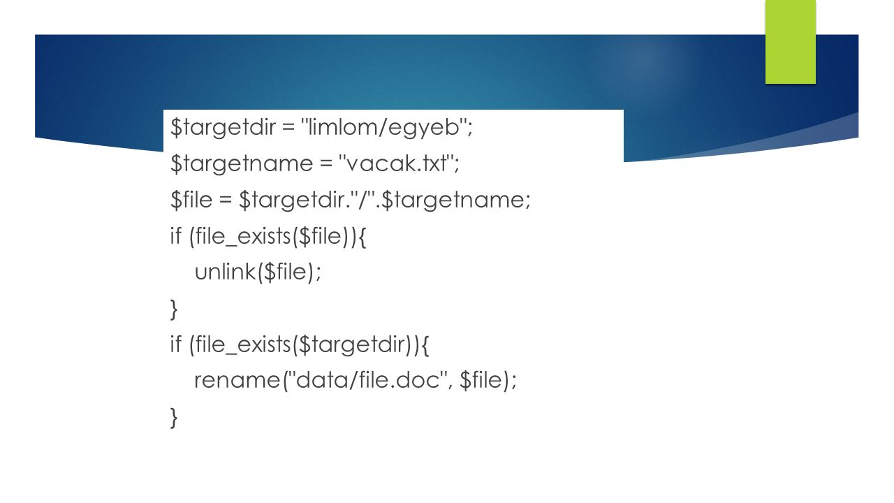 $targetdir = limlom/egyeb ; $targetname = vacak
