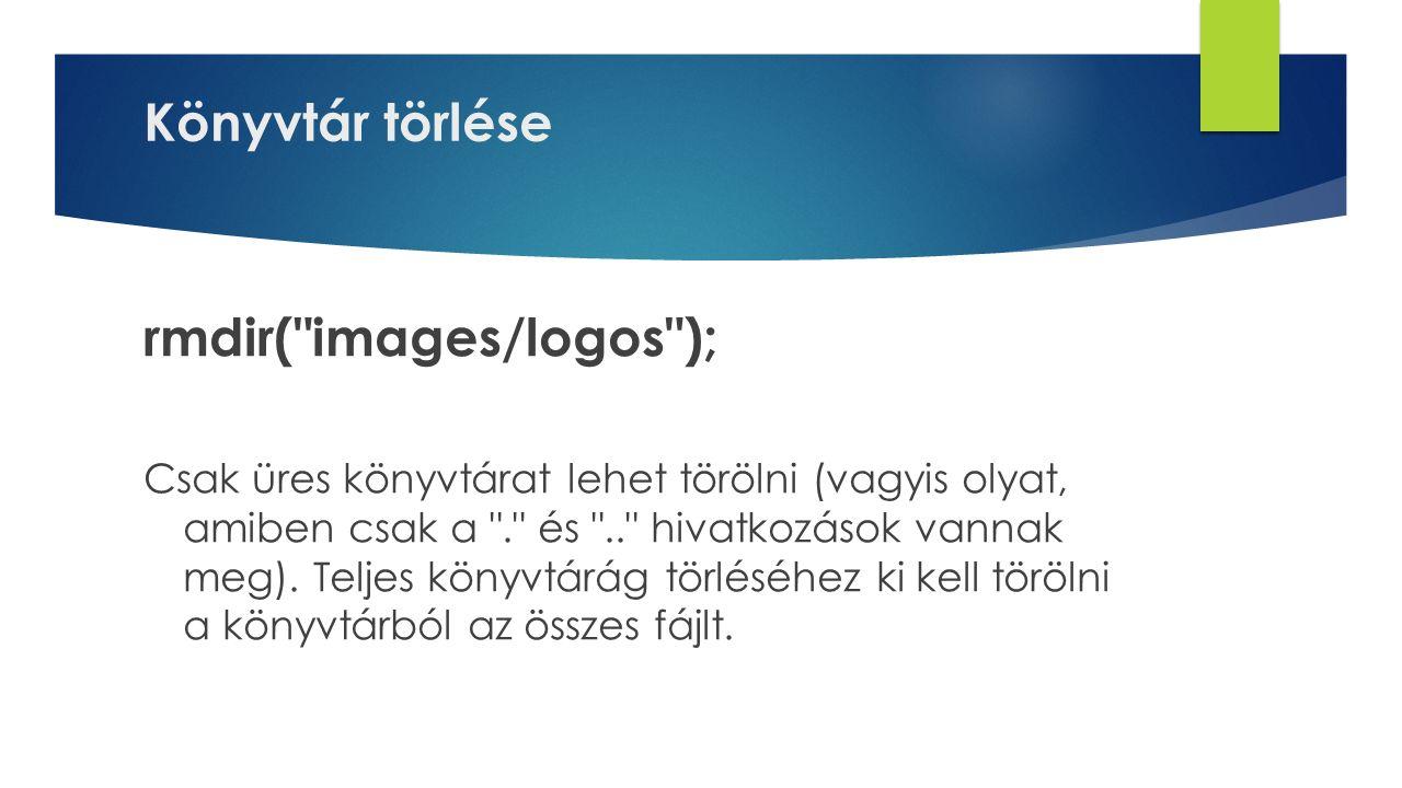 rmdir( images/logos );