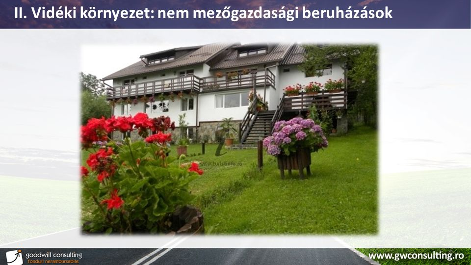 II. Vidéki környezet: nem mezőgazdasági beruházások
