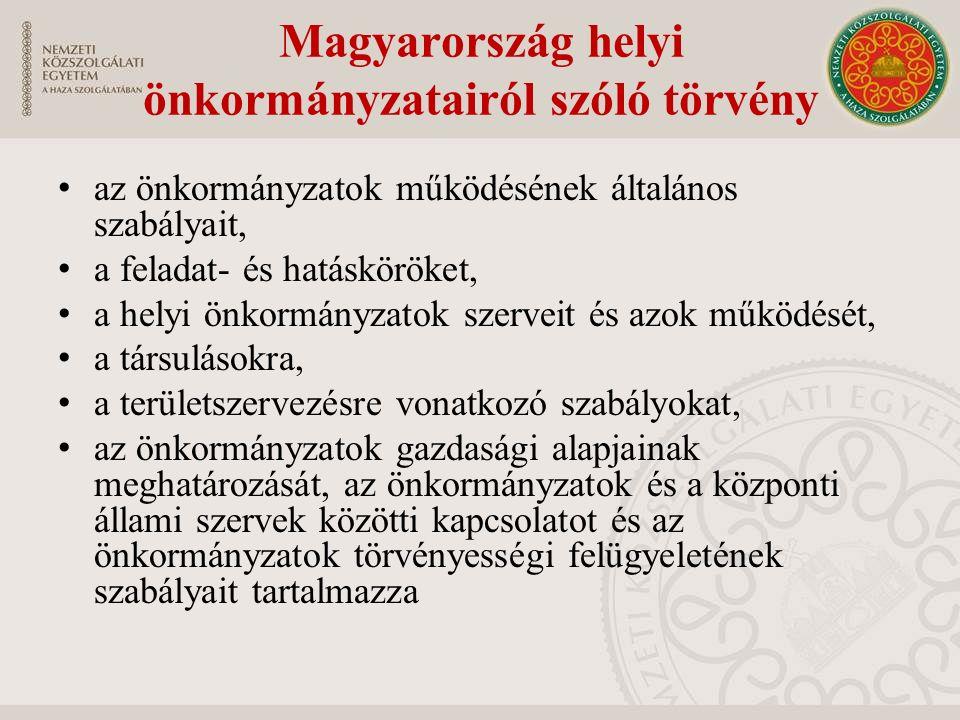 Magyarország helyi önkormányzatairól szóló törvény