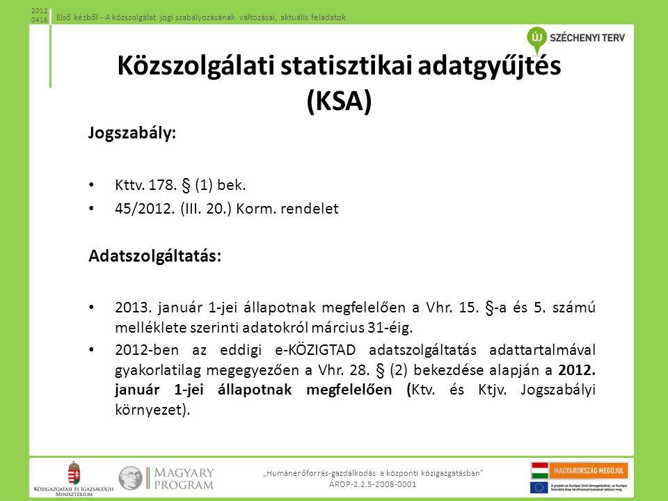 Közszolgálati statisztikai adatgyűjtés (KSA)