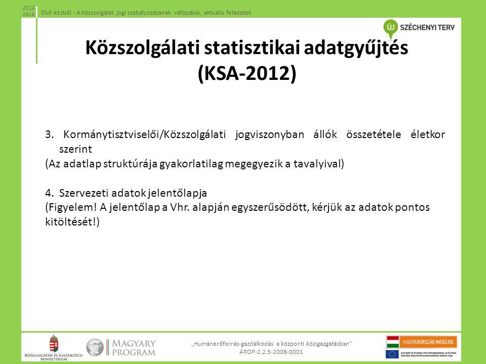Közszolgálati statisztikai adatgyűjtés (KSA-2012)