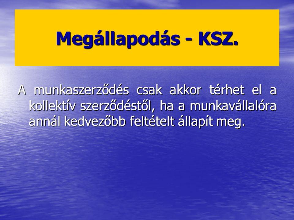 Megállapodás - KSZ.