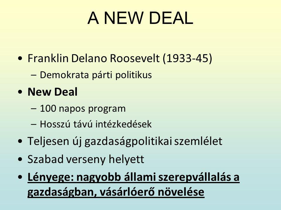 A NEW DEAL Franklin Delano Roosevelt (1933-45) New Deal
