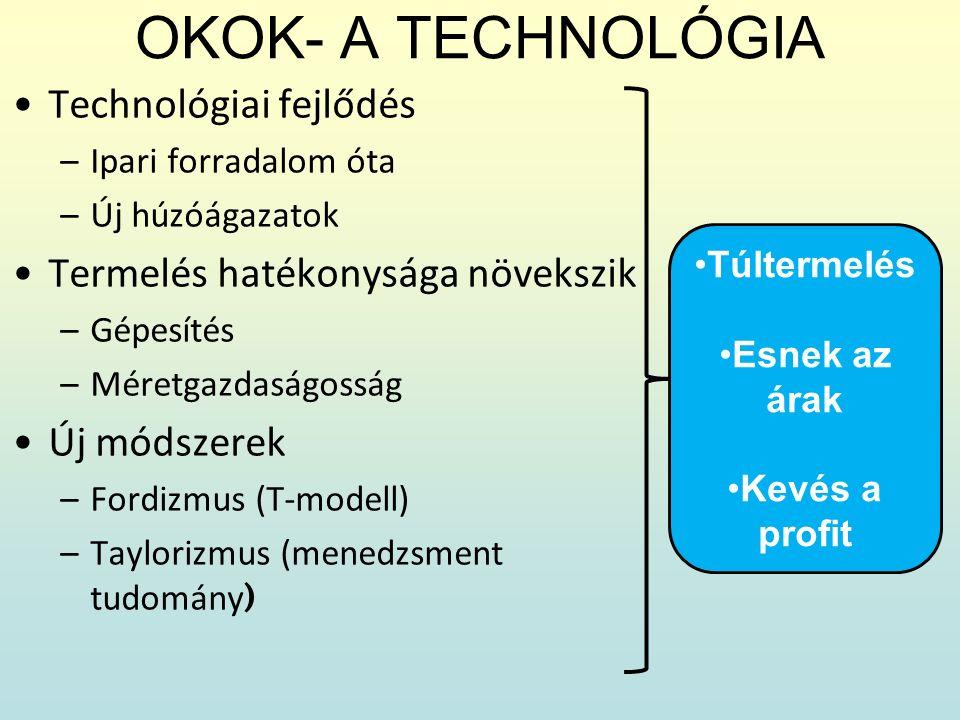 OKOK- A TECHNOLÓGIA Technológiai fejlődés