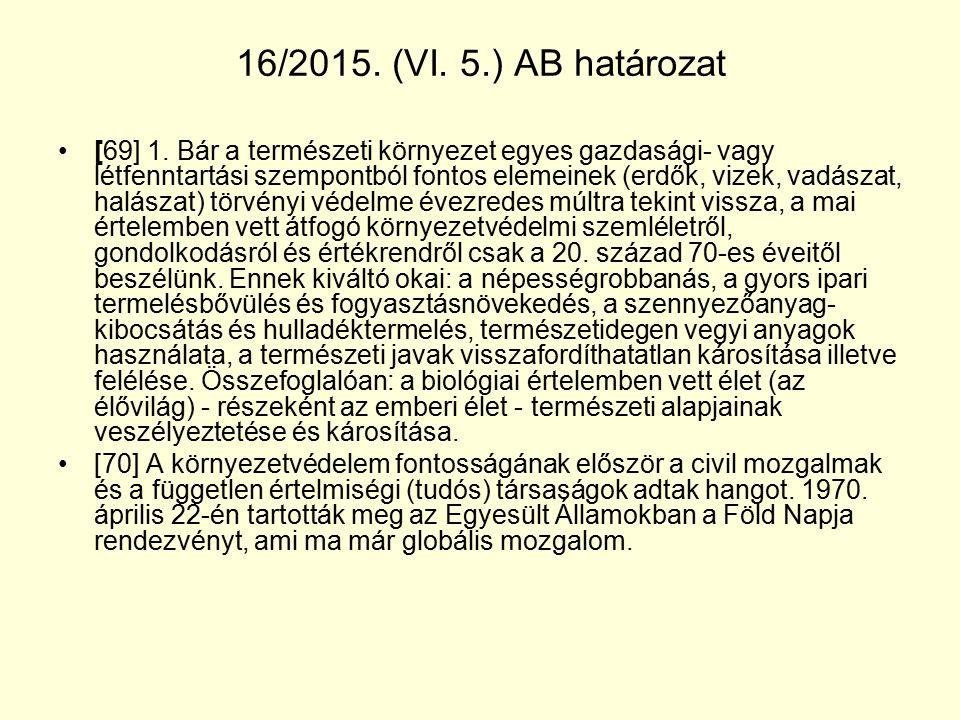 16/2015. (VI. 5.) AB határozat