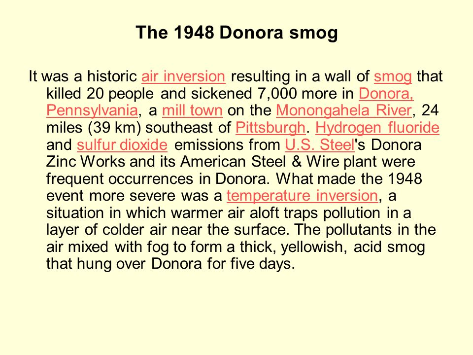 The 1948 Donora smog
