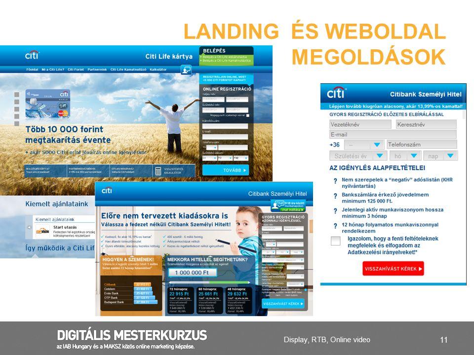LANDING ÉS WEBOLDAL MEGOLDÁSOK