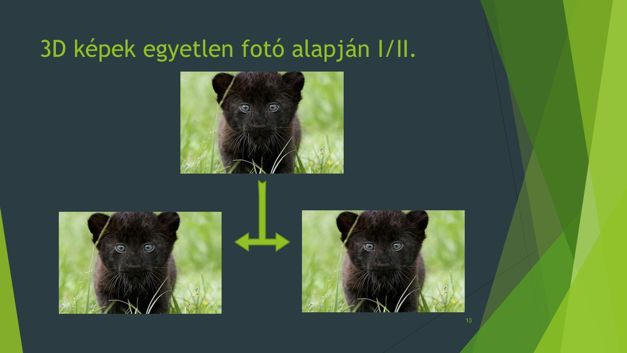 3D képek egyetlen fotó alapján I/II.