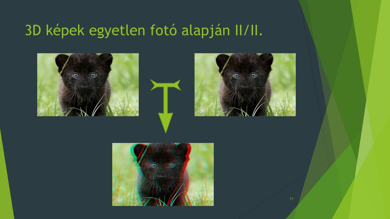 3D képek egyetlen fotó alapján II/II.