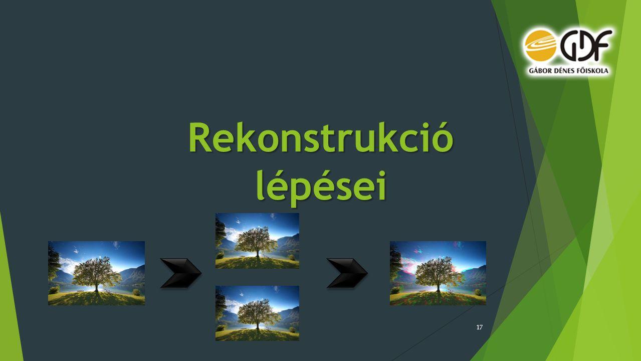 Rekonstrukció lépései