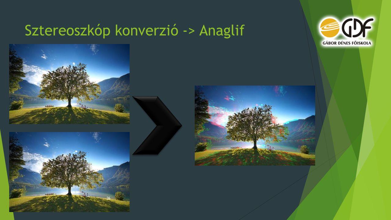 Sztereoszkóp konverzió -> Anaglif