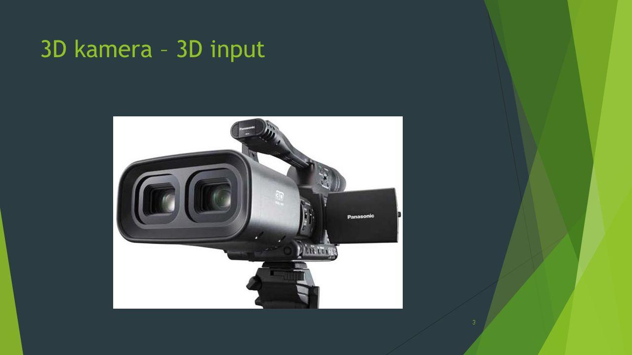 3D kamera – 3D input
