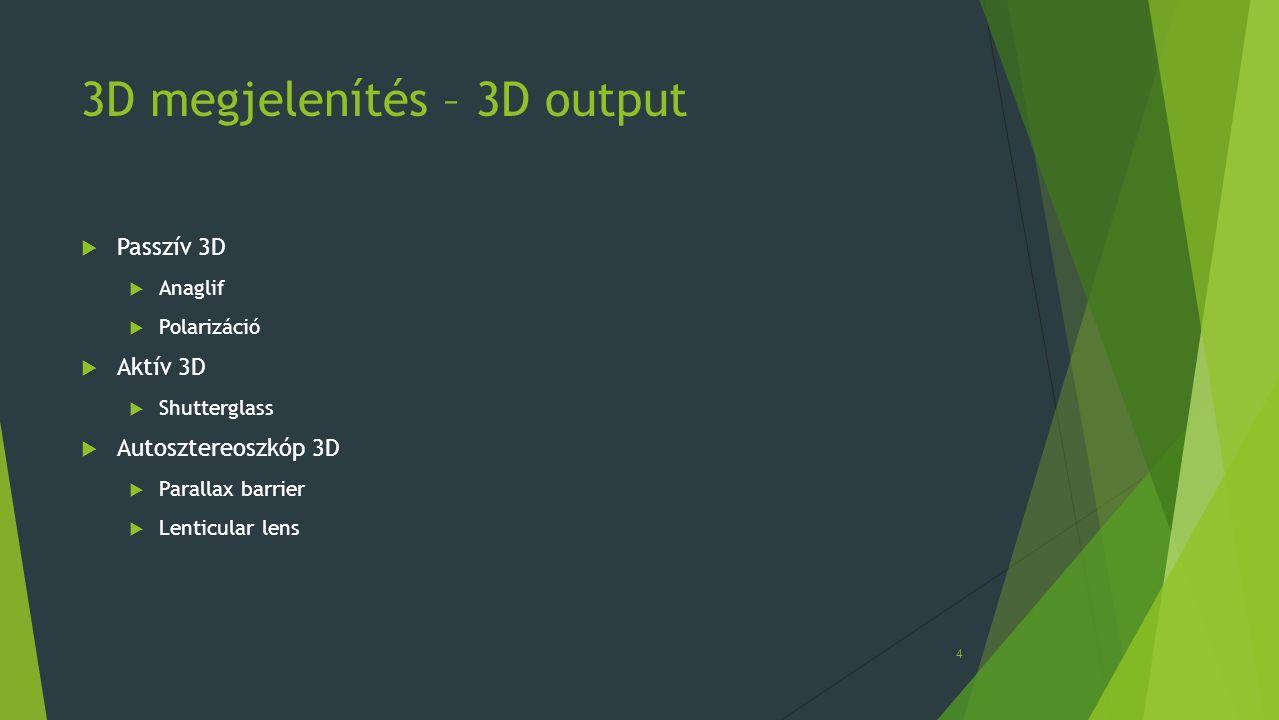 3D megjelenítés – 3D output