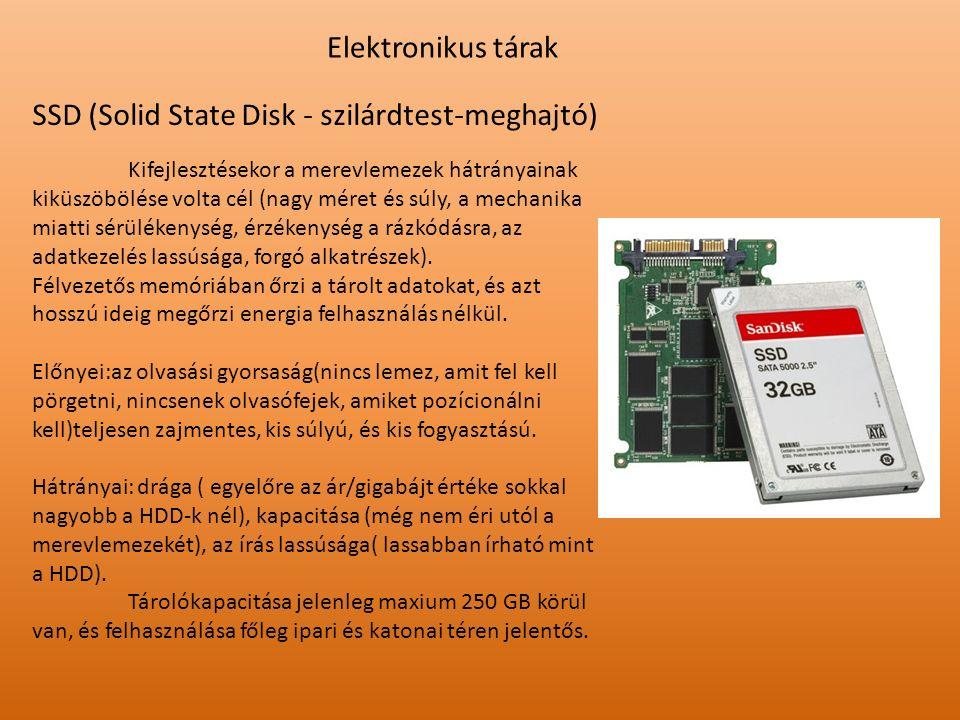 SSD (Solid State Disk - szilárdtest-meghajtó)