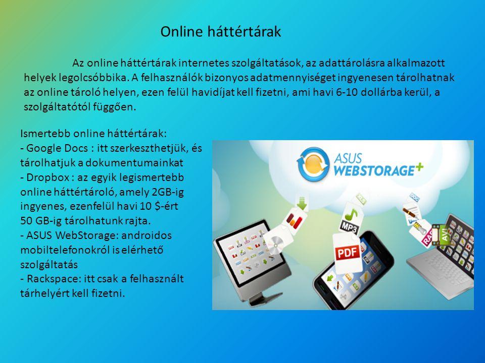 Online háttértárak