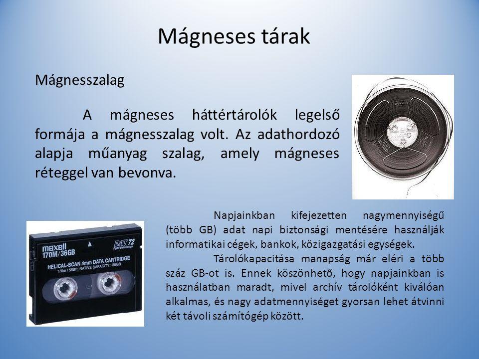 Mágneses tárak Mágnesszalag