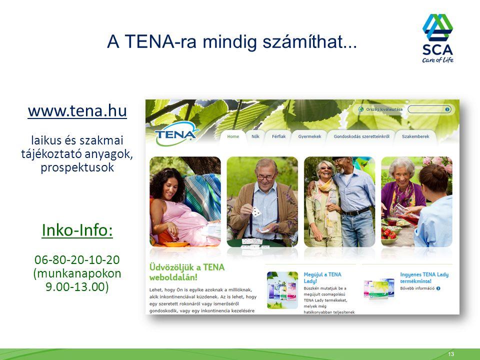 A TENA-ra mindig számíthat...