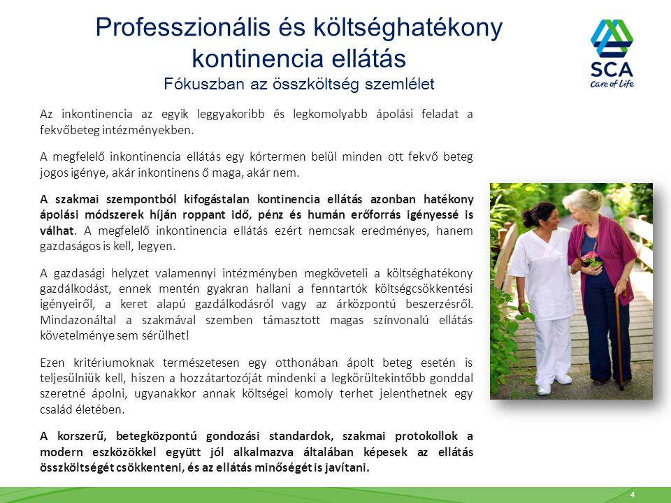 Professzionális és költséghatékony kontinencia ellátás
