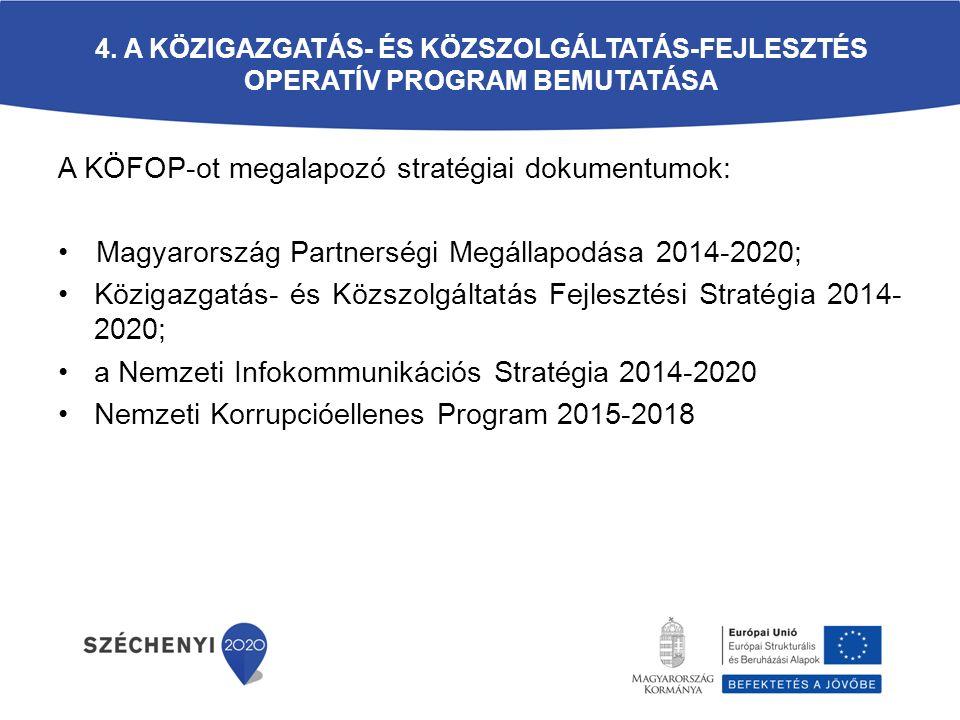 A KÖFOP-ot megalapozó stratégiai dokumentumok: