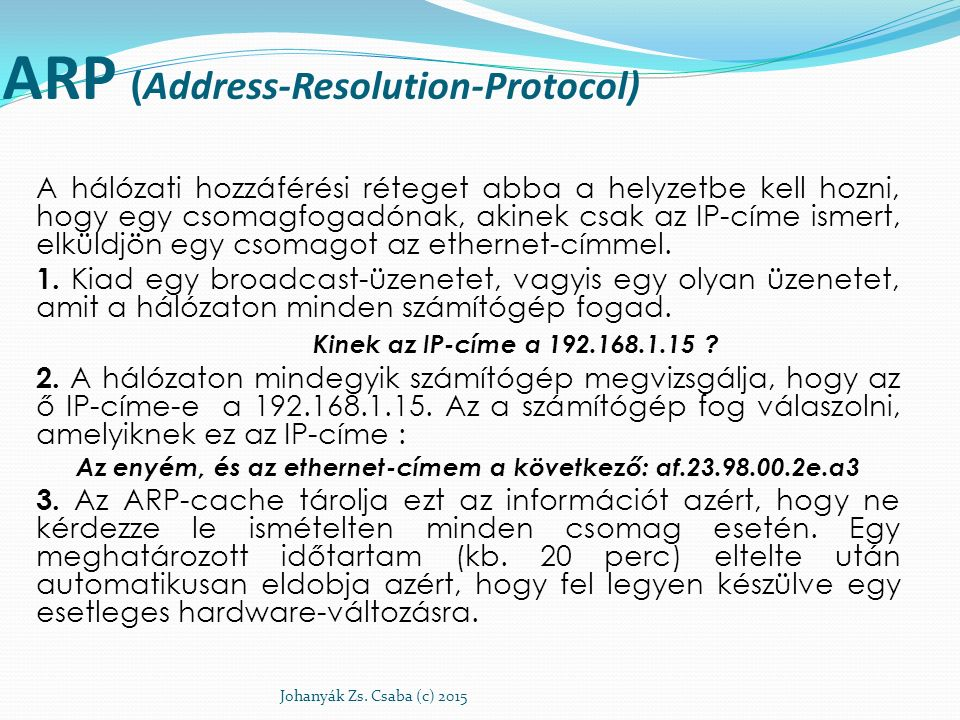 ARP (Address-Resolution-Protocol)