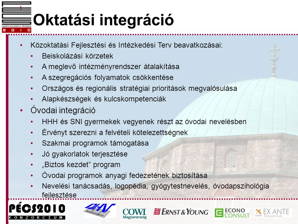 Oktatási integráció Óvodai integráció