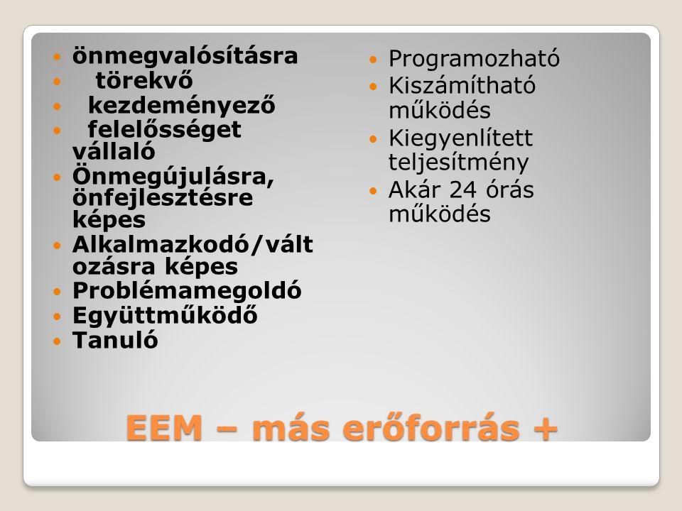 EEM – más erőforrás + önmegvalósításra törekvő kezdeményező