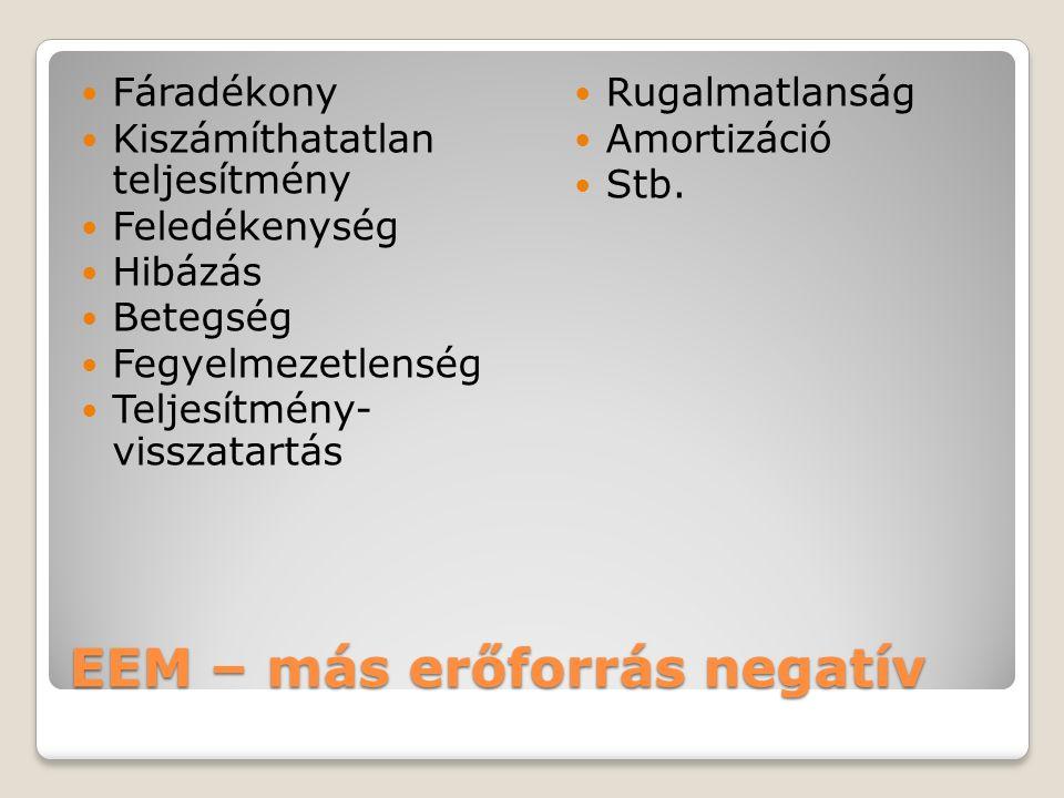EEM – más erőforrás negatív