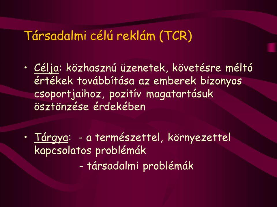 Társadalmi célú reklám (TCR)