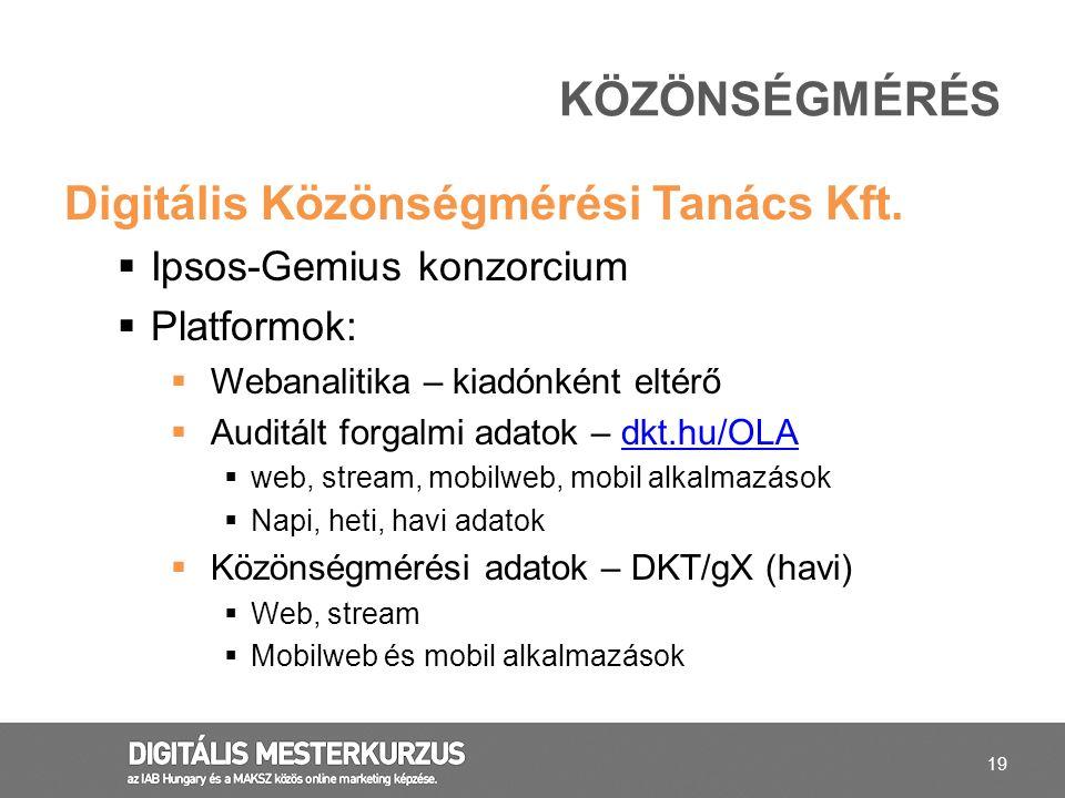 Digitális Közönségmérési Tanács Kft.