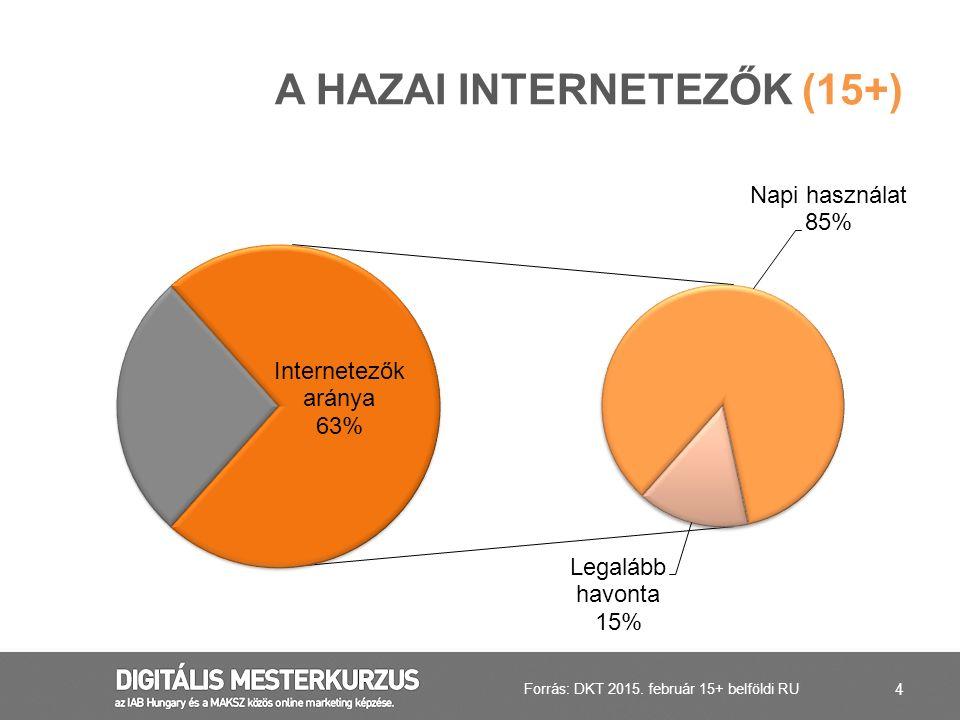 A hazai Internetezők (15+)