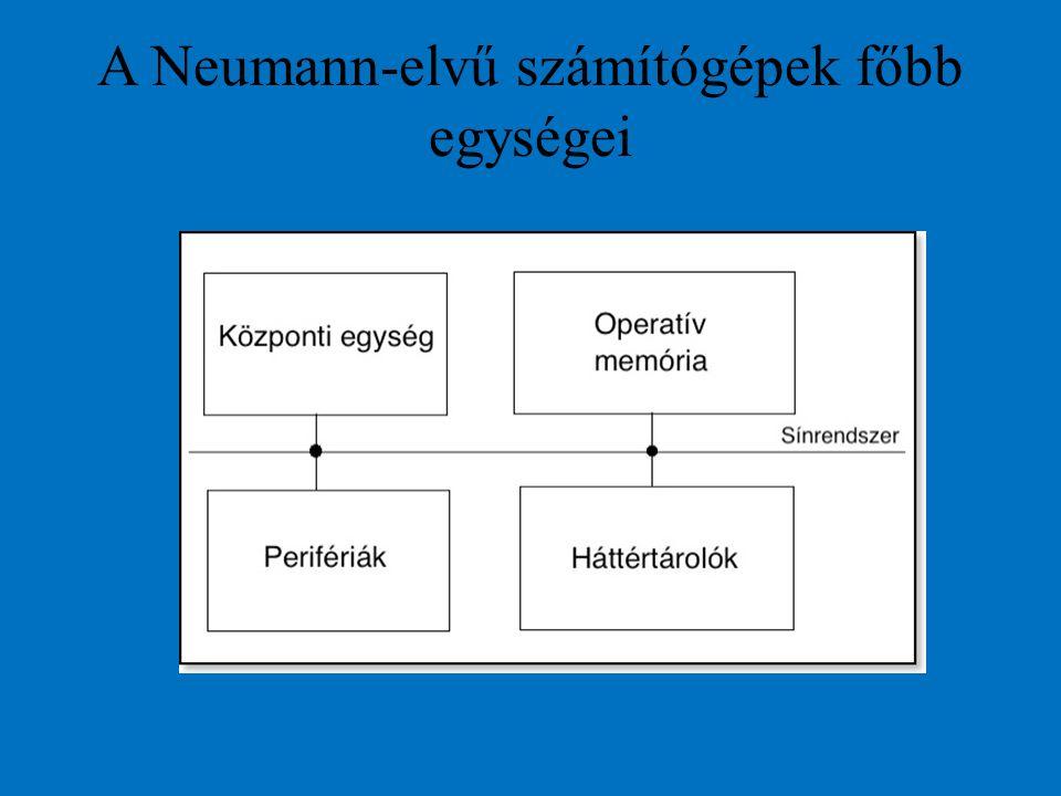 A Neumann-elvű számítógépek főbb egységei