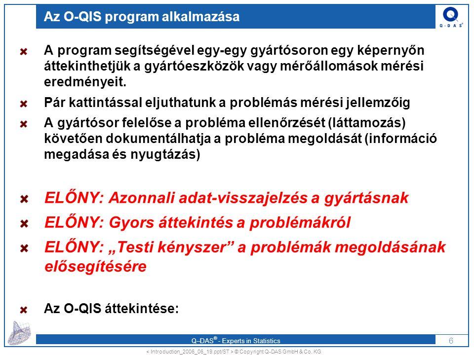 Az O-QIS program alkalmazása