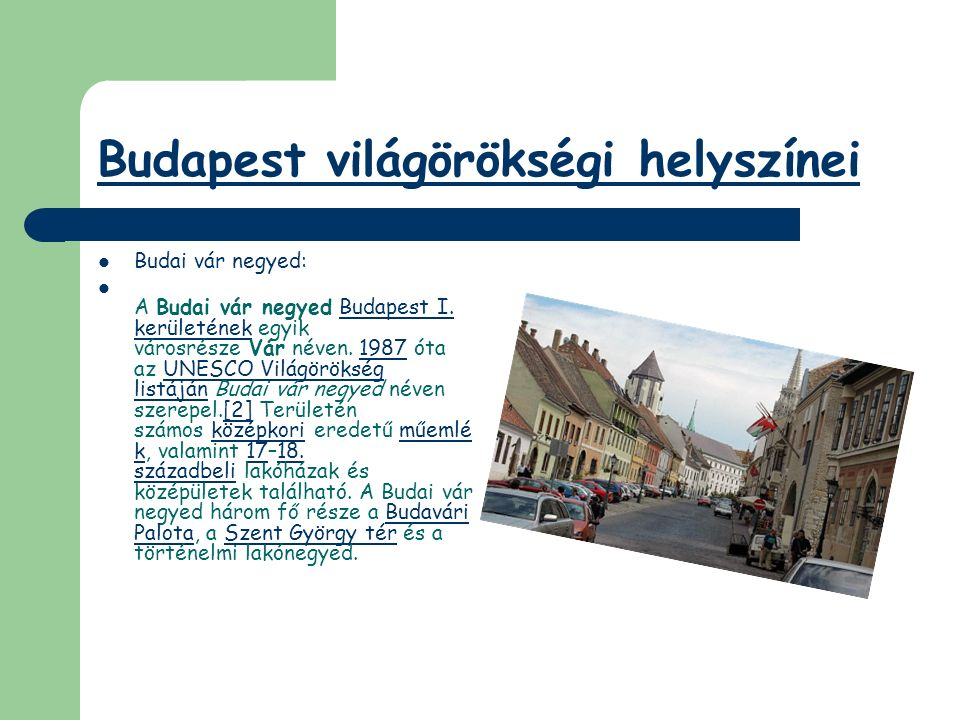 Budapest világörökségi helyszínei