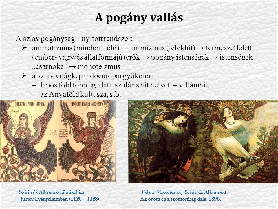 A pogány vallás A szláv pogányság – nyitott rendszer: