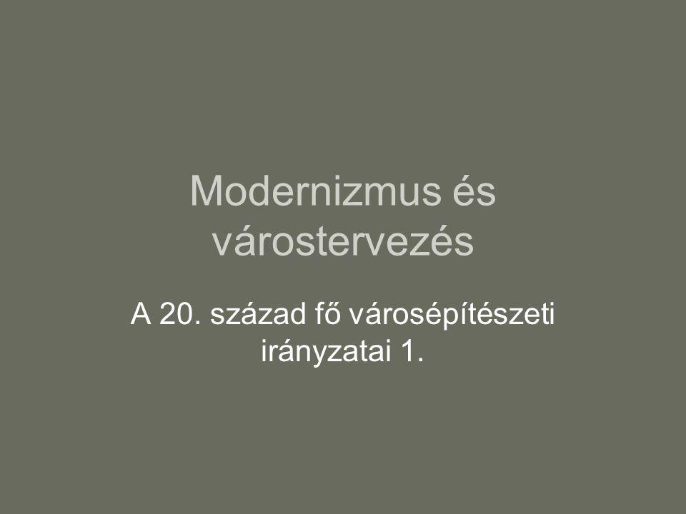 Modernizmus és várostervezés