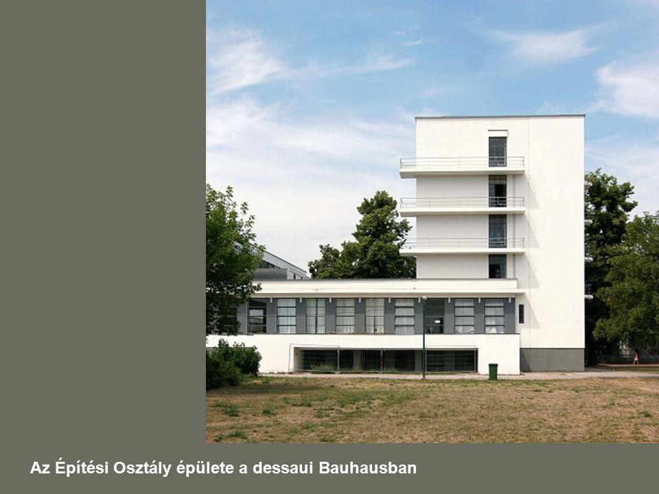 Az Építési Osztály épülete a dessaui Bauhausban