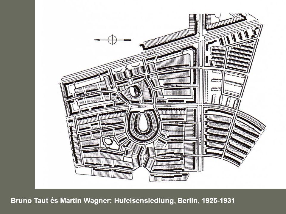 Bruno Taut és Martin Wagner: Hufeisensiedlung, Berlin, 1925-1931