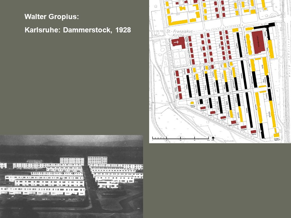 Walter Gropius: Karlsruhe: Dammerstock, 1928