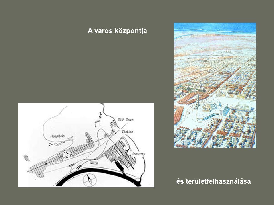 A város központja és területfelhasználása