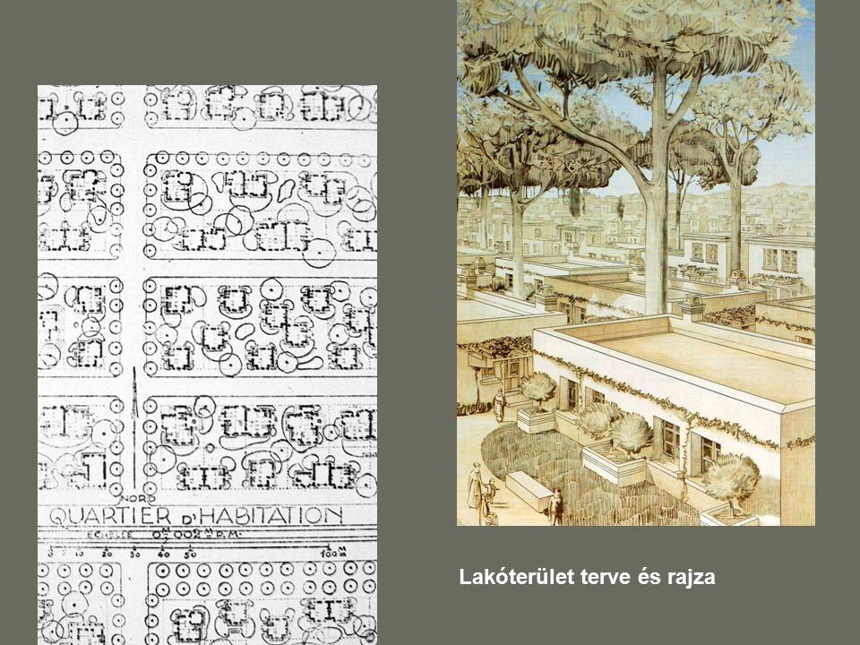 Lakóterület terve és rajza
