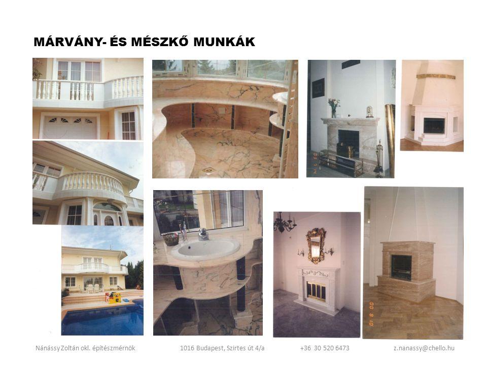 MÁRVÁNY- ÉS MÉSZKŐ MUNKÁK
