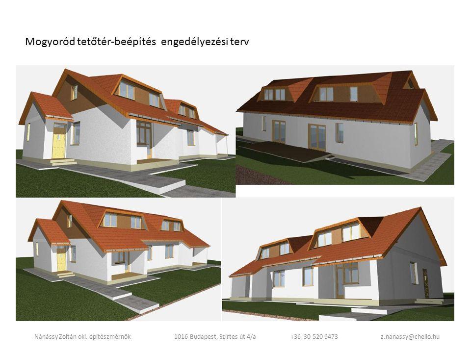Mogyoród tetőtér-beépítés engedélyezési terv